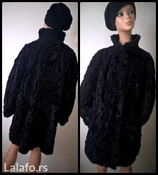 Odlicna crna bunda od astragana , placena papreno. Snizenje na 4999 - Loznica