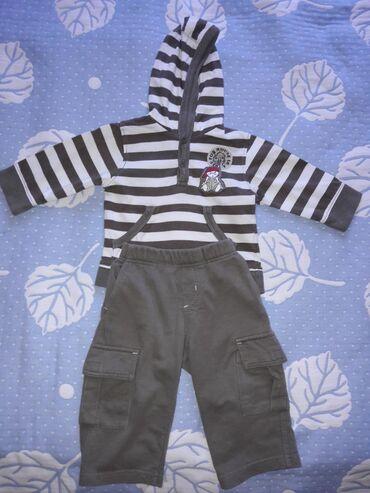 Тонкий хб костюм для малыша, размер 74 см - на 1-1.5 года, привезли из