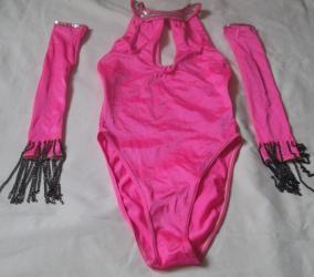 спортивная-гимнастика в Кыргызстан: Продаю б/у купальники и лосины для танцев, гимнастики. Цена 100 - 250