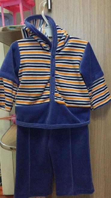 Новый велюровый костюм. размер 6 месяцев. в Бишкек