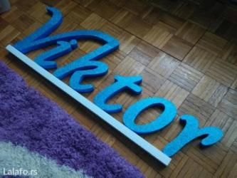 Dekorativna slova i brojevi od stiropora za ukrasavanje slatkog stola, - Pirot