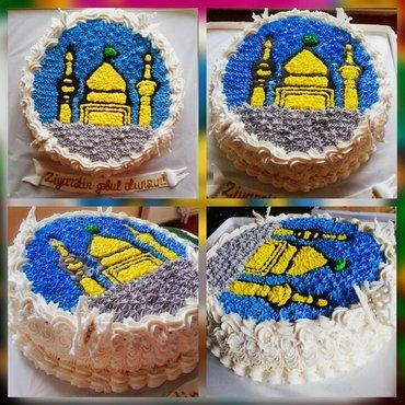 Bakı şəhərində Sifariş tortlar, evdə təmiz kərə yağı ilə hazırlanır. Sizin istəyinizd