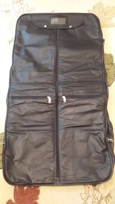 Дорожная сумка чехол из натуральной кожи для костюма (Турция)