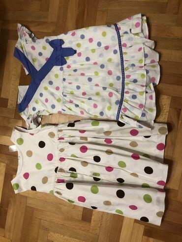 Za decu - Surdulica: 2 letnje haljinice, potpuno očuvane, Carter's i Mini Mode uzrast 24