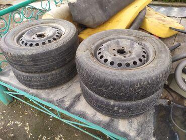 Диски с шинами на Хонда Степ вагон, R 15/195/65 резина подуставшая
