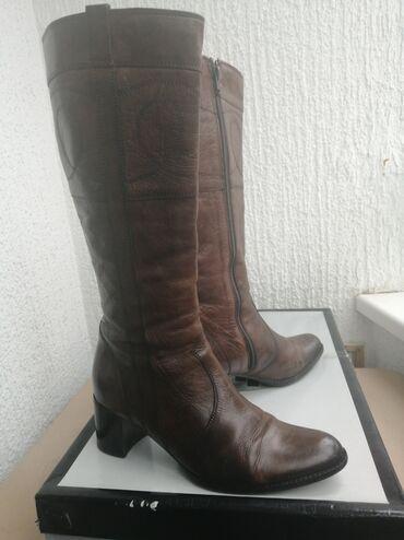 Jakna sa krznom - Srbija: Ženske čizme sa krznenom postavom br.38Očuvane, tople i udobne čizme