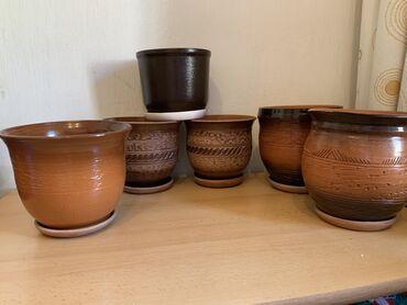 Продаю глиняные горшки для цветов и растений.  Размеры и цены на фото