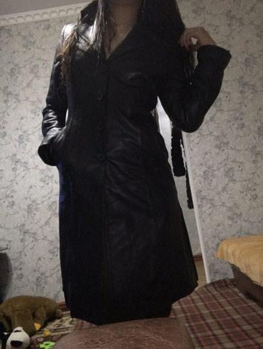 Натуральный кожаный сюртук до колены в Бишкек