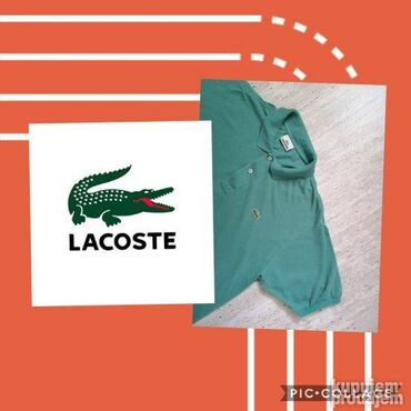 Lacoste - Srbija: LACOSTE mzska polo majica XLOdlicna muska polo majica zelene boje, sa