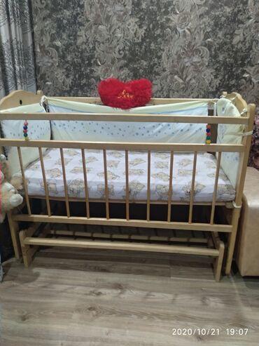 Другие кровати - Кыргызстан: Манеж с матрасом и бортиками