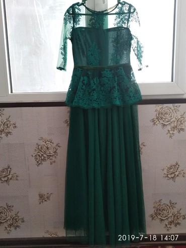 вечернее платье зеленое в Кыргызстан: Длинное вечернее платье. также подойдёт и для беременных, так как сама
