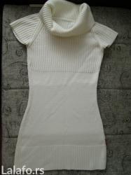 Zimska haljina/tunika prljavo bele boje. Kupljena preko ovog sajta, in Novi Sad