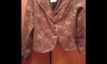 Новый гипюровый пиджак коричневого цвета. в Бишкек
