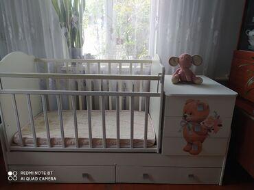 бу детские кроватки в Кыргызстан: Продается детская кроватка трансформер 3в1. Производство Россия. Люльк