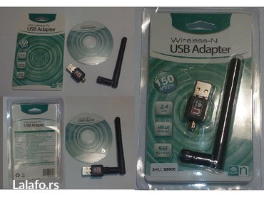 Usb wifi adapter sa antenom+cd novo - Uzice