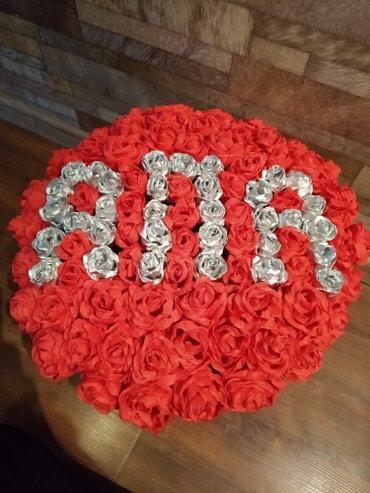 Апа из роз 101 роз подарок белек апаларга белек 8-март в Бишкек
