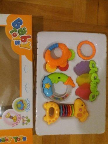 Za decu | Nis: Zvecke za bebe i glodalicezirafa i mesec korisceni vrlo malo. Sve je