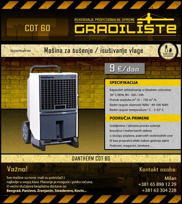 Masina za susenje / isusivanje vlage 60l/24h Dantherm CDT 60 - Vrsac
