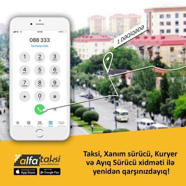 Digər xidmətlər - Azərbaycan: Yeni acilmiş ALFA şirketimiz taksi, xanim sùrùcu, kuryer ve ayiq