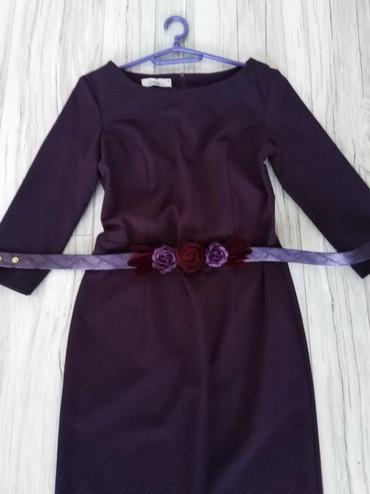 Ženska odeća | Nova Pazova: Ljubičasta elegantna haljina sa pojasom nošenja jedan put samo bez