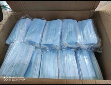 чепчики медицинские бишкек в Кыргызстан: Маски трехслойные  оригинал 100%  пока висит объявление значит товар е