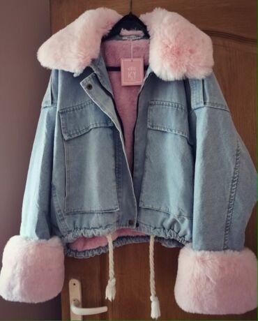 Teksas jakna sa rozim krznom dostupna od sada /nov model -nova boja su