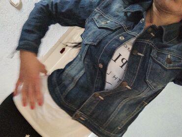 Ženska odeća - Jagodina: GAP texas jakna,nova,xs s,uska krstka,extra