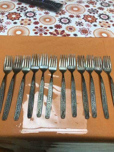 Вилки мельхиоровые, новые, не использованные, 12 шт в Bakı