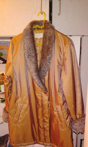 Μπουφάν με γούνα συνθετικη στο γιακά και μανικια μέγεθος Xl