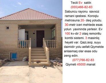 Bakı şəhərində Tecili Ev  satilir.