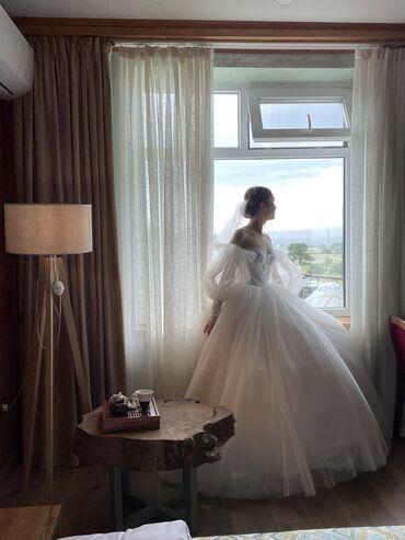 свадебные платья in Кыргызстан   МАТЕРИНСКИЕ ПЛАТЫ: Продам или сдам на прокат свадебное платьеРазмер SРукава съемные