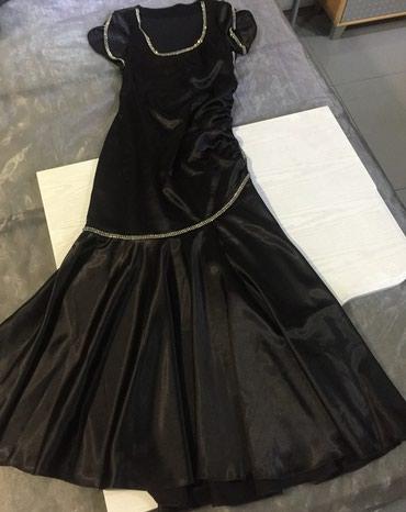 Платье в пол-атлас,размер 48-50. в Бишкек