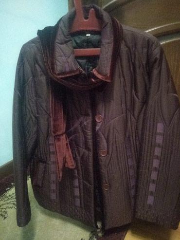 Женская куртка большого размера. цвет бордо. новая. Корейская. в Чолпон-Ата