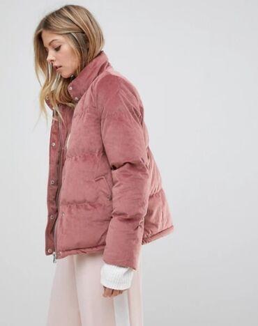 Куртка бархатная розового цвета Покупали за 2000 продаем за 1500сом