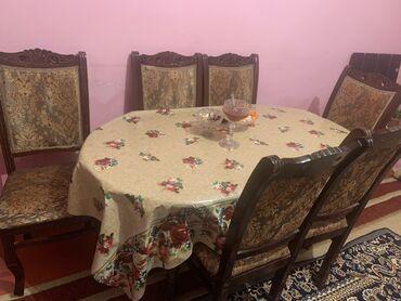 yumru busqalter - Azərbaycan: 150.00 AZN. 6 stul ve yumru stol