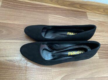 Очень удобные туфли. Размер 37, надевали на одно мероприятие. Замша
