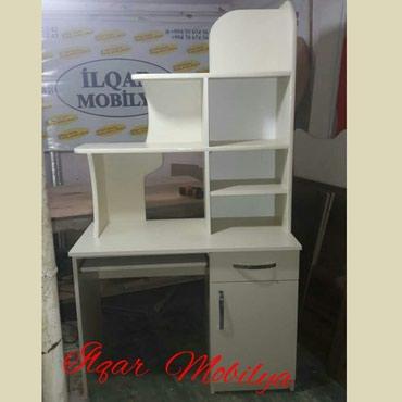 Bakı şəhərində Ilqar Mobilya istehsali Yazi masasi Matrial Turkiye laminantinan 2-3