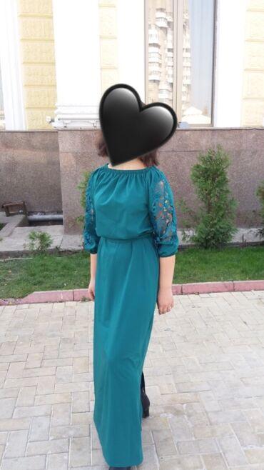 платье футляр голубое в Кыргызстан: Вечернее женское платье,Состояние б/у хорошее.Размер 38.Брали за 4000