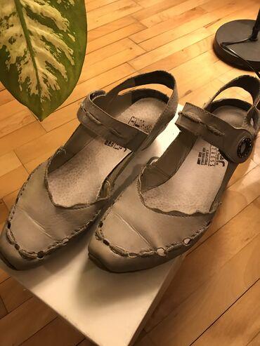 Rieker sive sandale visina potpetice 3cm veličina 40