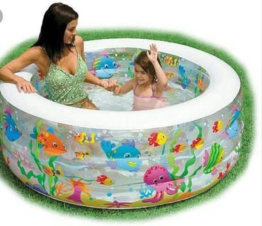 Надувной бассейн для дачи и для дома . Такие бассейны практичны