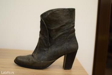 KOZA!! Rasprodaja! Kozne krace cizme paar,handmade,broj 37,mekana - Pozega