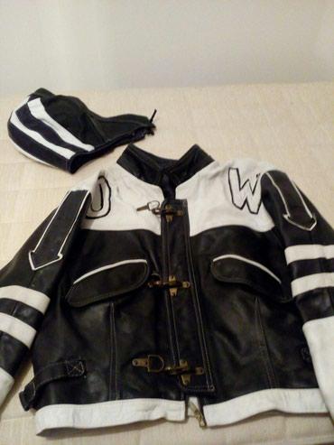 Kozna kraca muska jakna od boksa, motorka, kupljena u Parizu. Malo - Belgrade