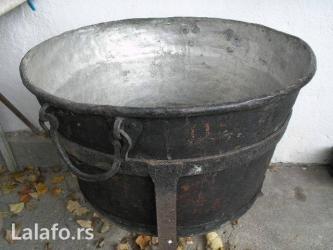 Veliki kazan od čistog bakra za topljenje masti. Proizvod čuvenih - Bajina Basta