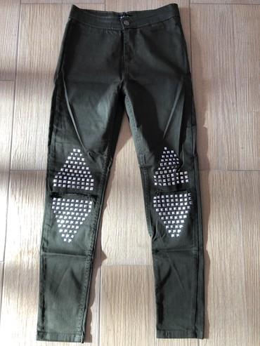 Pantalone-nisu-italiji - Srbija: Zenske pantalone. Maslinaste. Nove, bez ostecenja. Nisu nosene