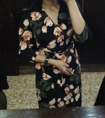 длинное платье на запах в Кыргызстан: Платье длинна французская на запах очень красиво сидит