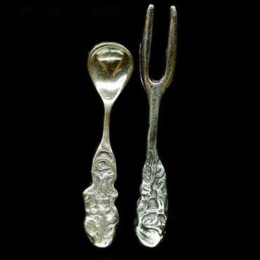 Декоративные вилочка и ложечка из в Bakı