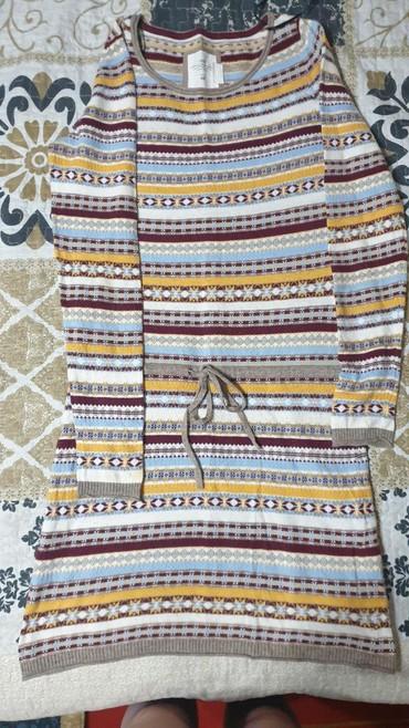 Платья в Чолпон-Ата: Продаётся платье тёплое б/у в отличном состоянии,фирма H&M,размер