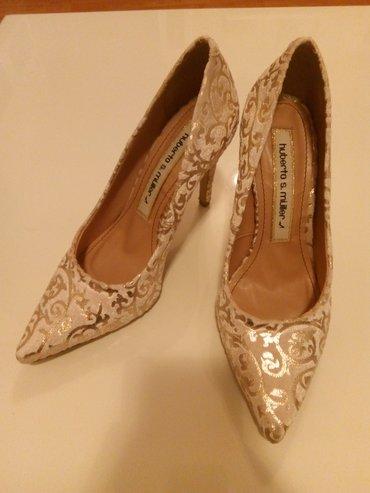 Cipele,37,neoštećene belo-zlatne korišćene jednom academia niš udobne! - Nis