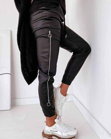 Pantalone kozne - Srbija: Kozne pantalone sa zippovima NOVO SA ETIKETOM!* Nova Kolekcija