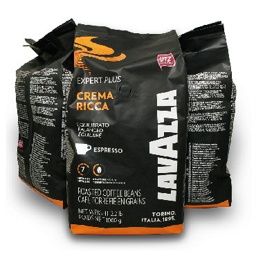 Профессиональные кофемашины lavazza - Кыргызстан: Кофе Lavazza в зернах Crema Ricca 1 кг. Италия. Обладает богатым